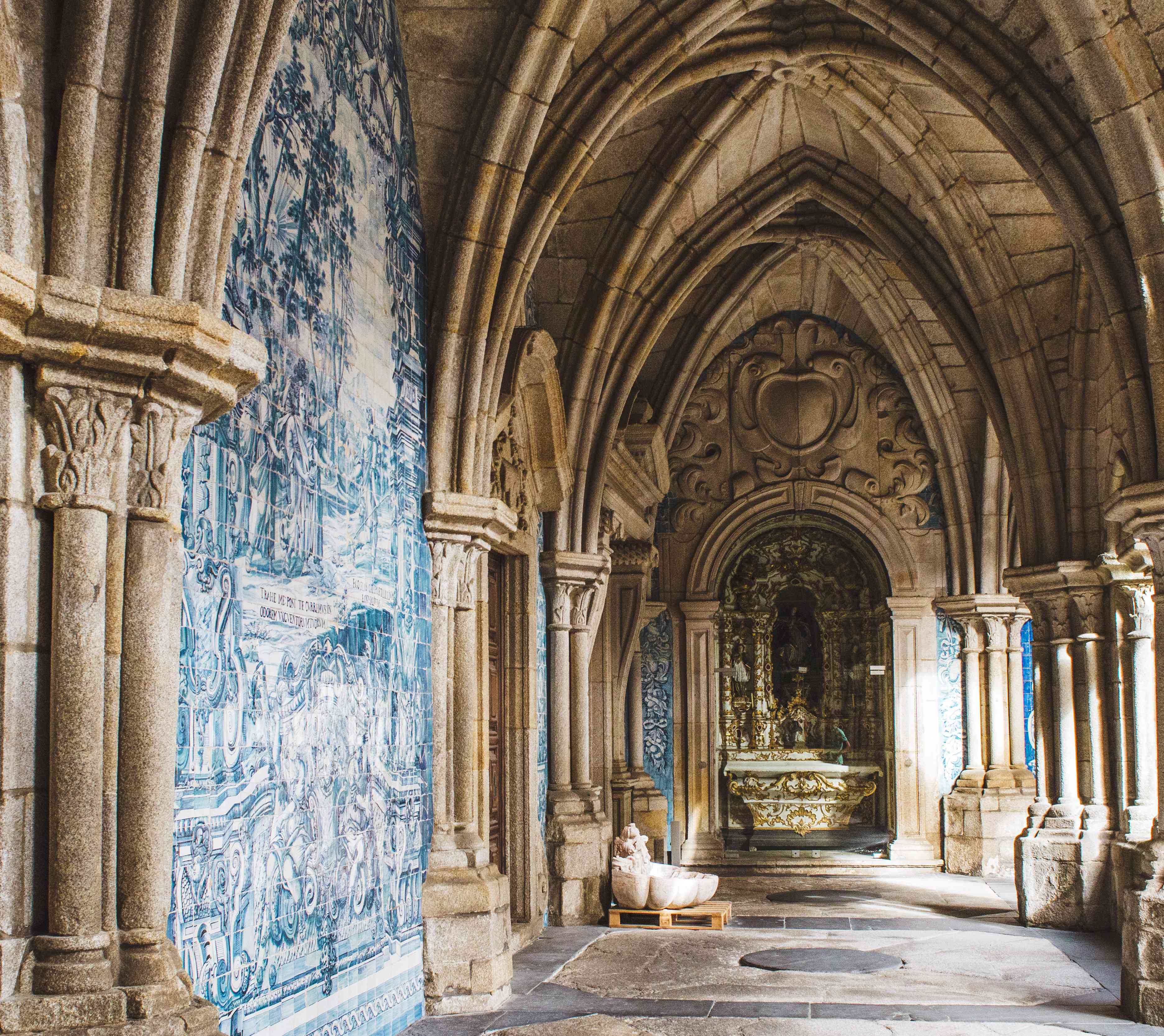 Blue Tile mural in the Porto Cathedral