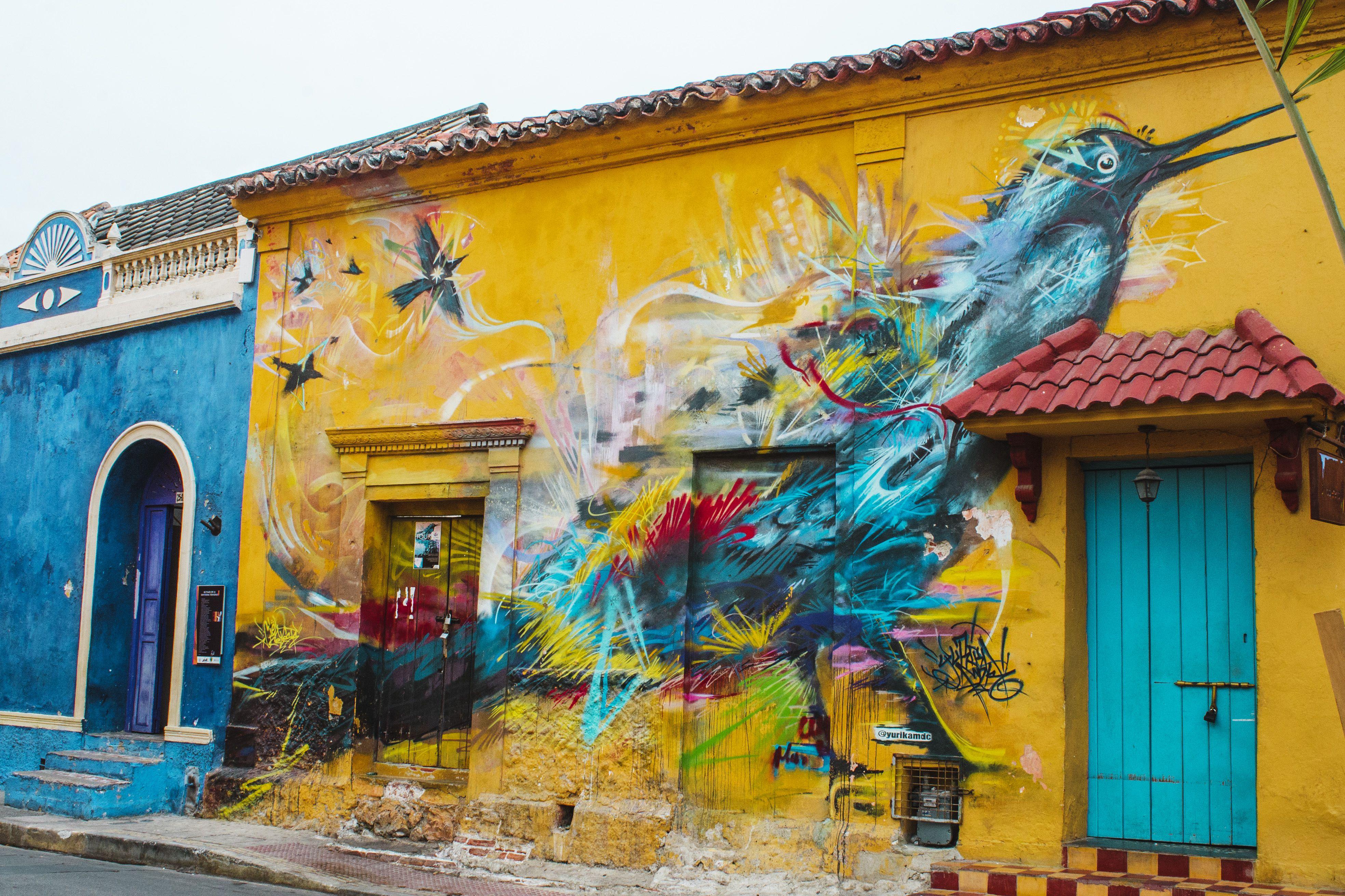 A street art mural in Getsemani