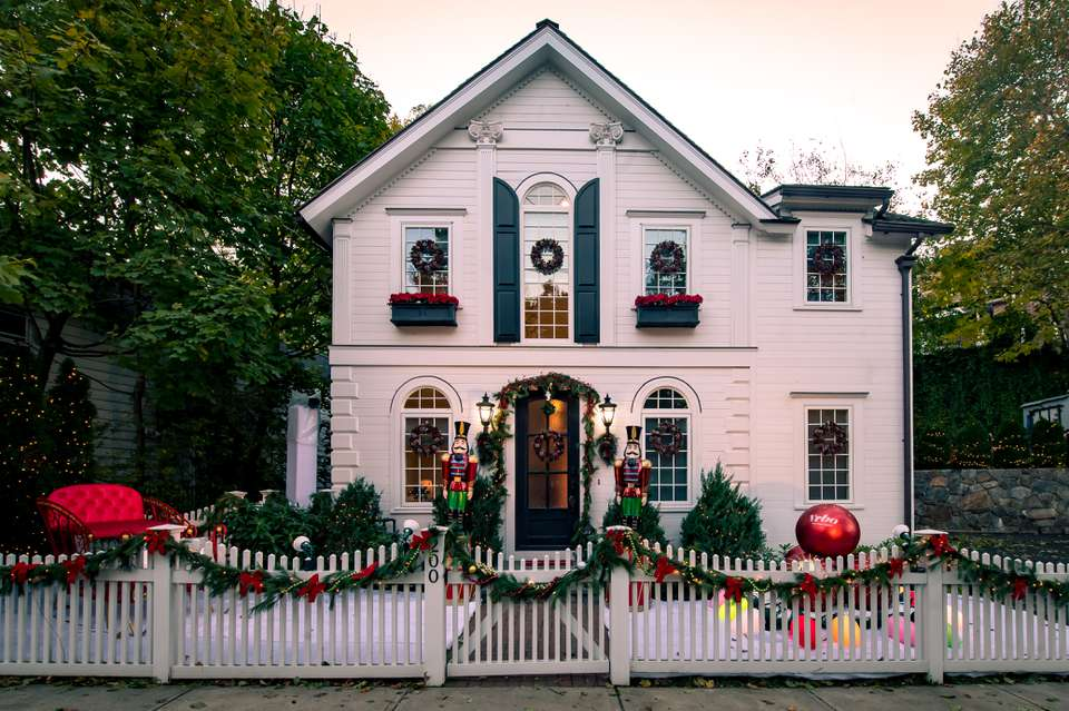 Christmas-themed rental available from Vrbo