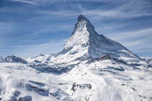 Snowy mountain in Zermatt