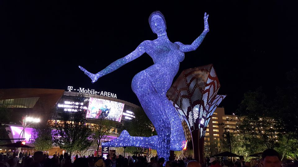 Bliss Dance at Night at T-Mobile Arena Las Vegas