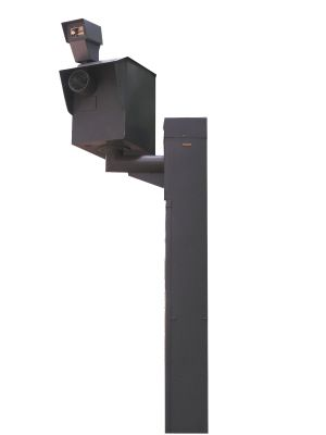 Speed camera on pole