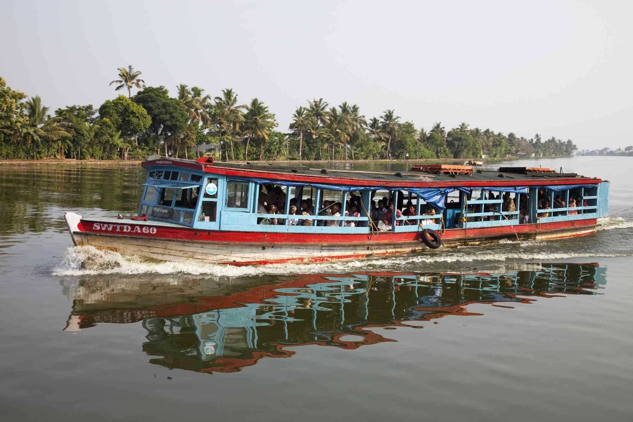 Public ferry, Kerala backwaters.