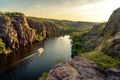 Boat on the river in Katherine Gorge
