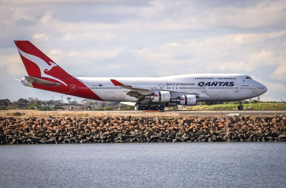 Final Operational Flight For 747 Jumbo Jet Ahead Of Retirement From Qantas Fleet