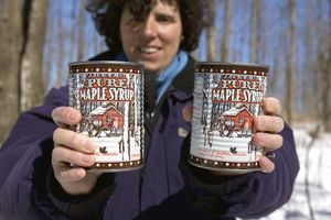 Sugar Shack Maple Syrup Cans