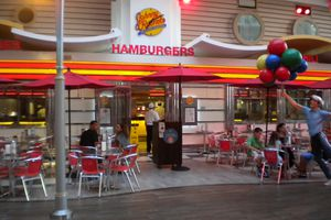 Johnny Rockets restaurant aboard the Oasis of the Seas.