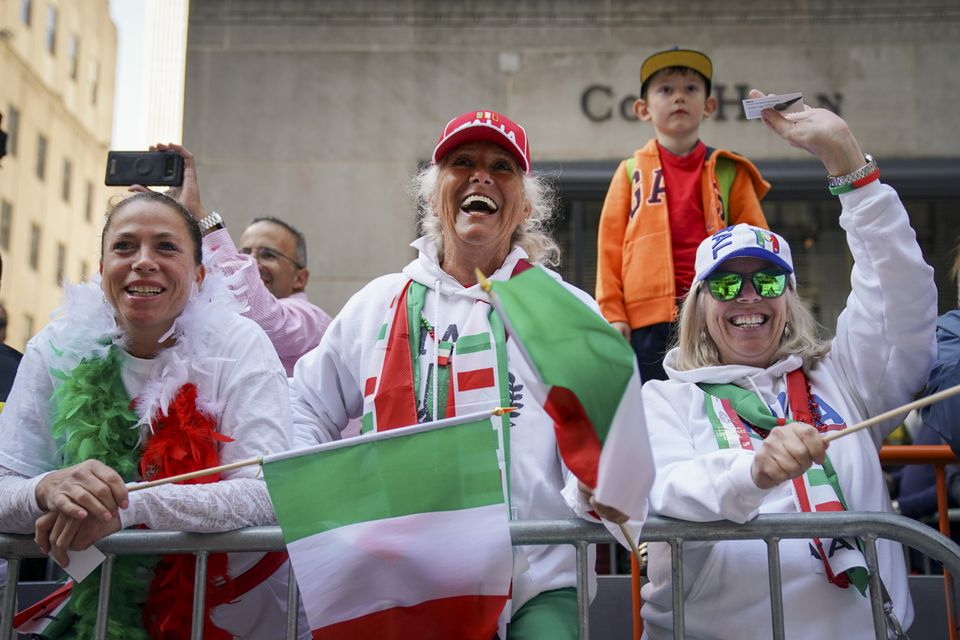 75th Annual Columbus Day Parade Marches Up New York's Fifth Avenue
