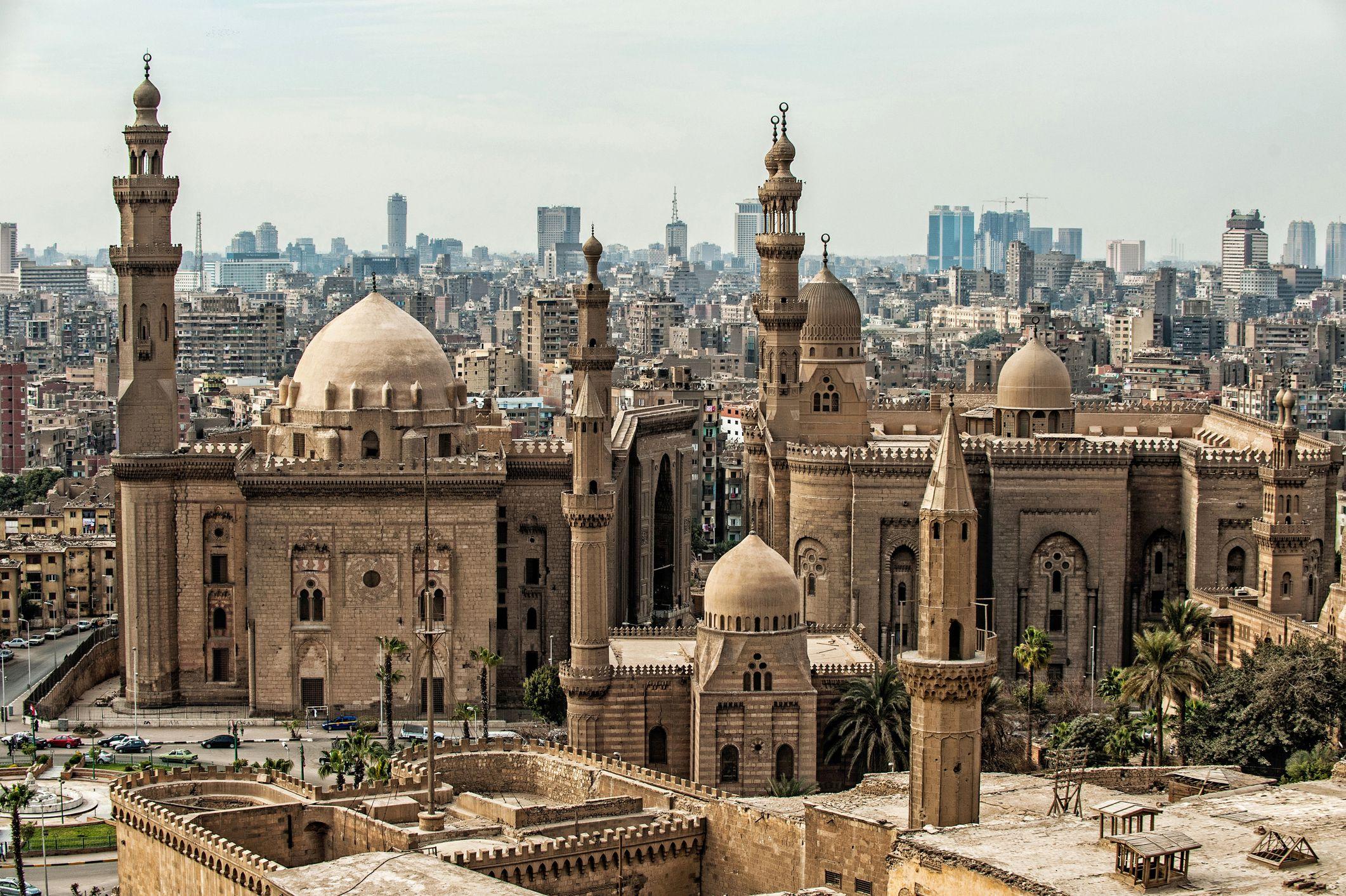 Vista de la ciudadela de El Cairo, Egipto