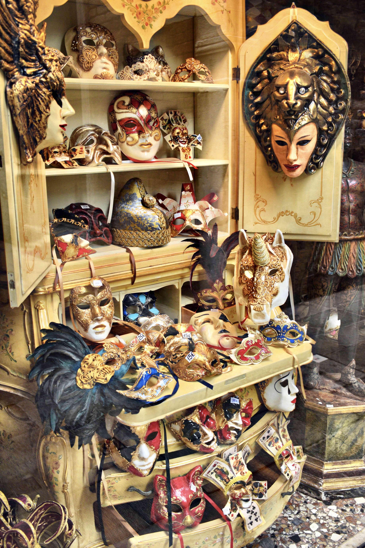 Several carnevale masks