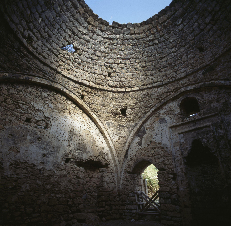 Vault of a ruined Byzantine Church on Acrocorinth