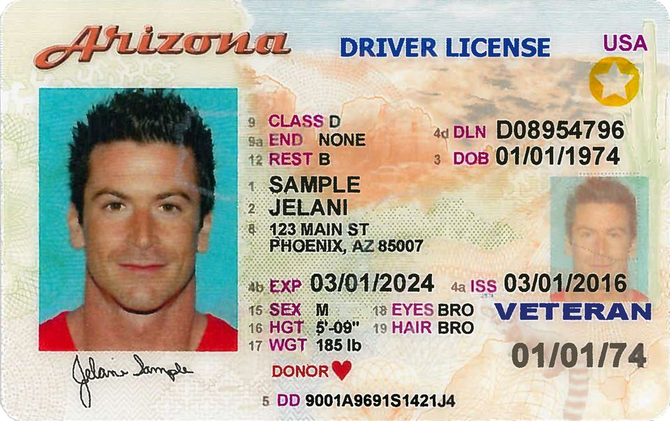 check points on my florida drivers license