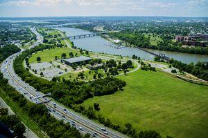Anacostia Park Washington D.C. aerial view