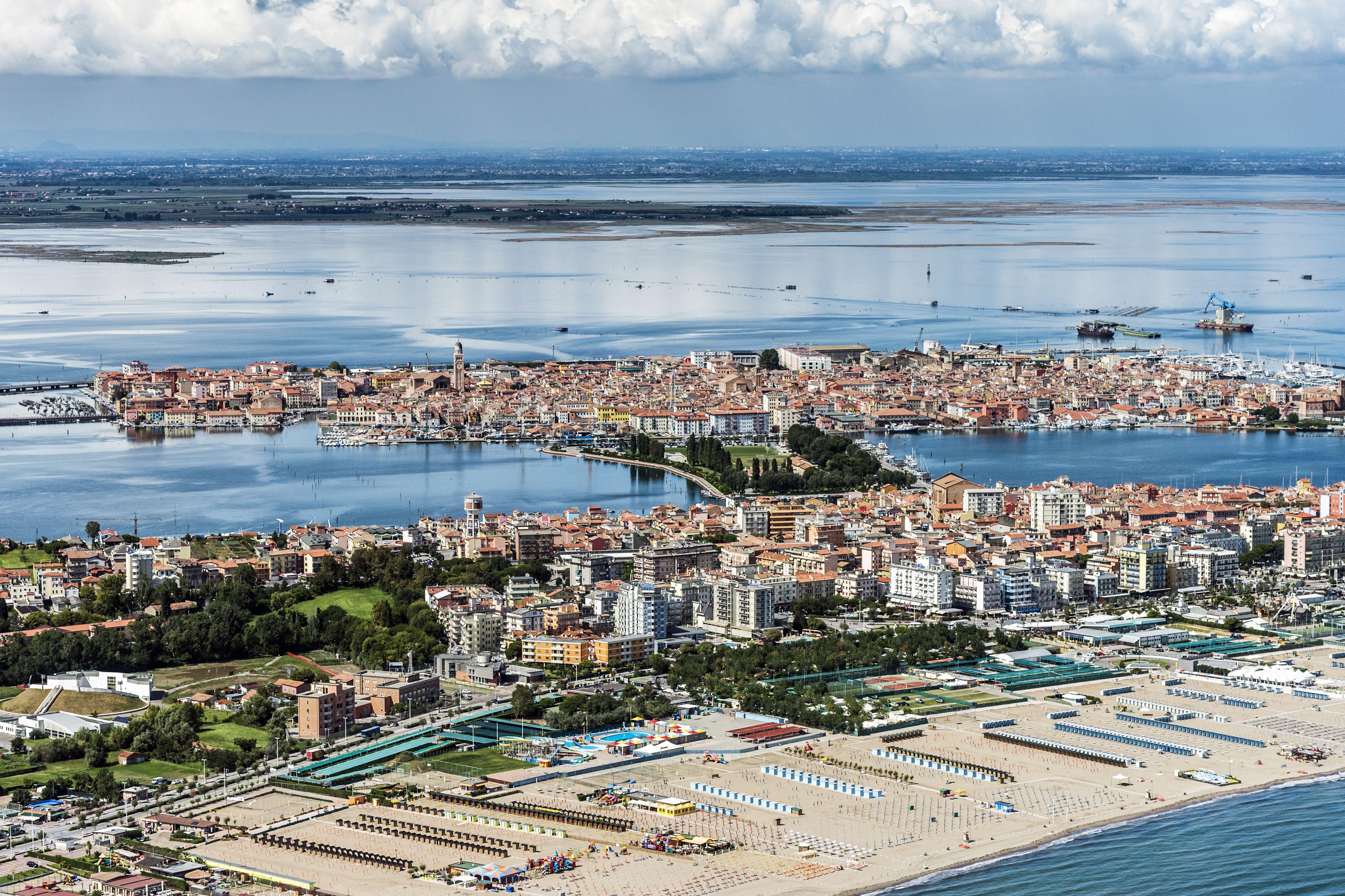 Aerial view of Chioggia, Venetian Lagoon, Italy