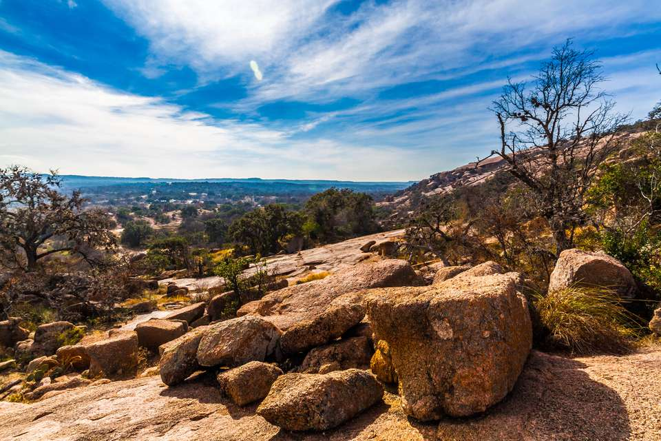 Rugged Western Landscape of Enchanted Rock, Texas.