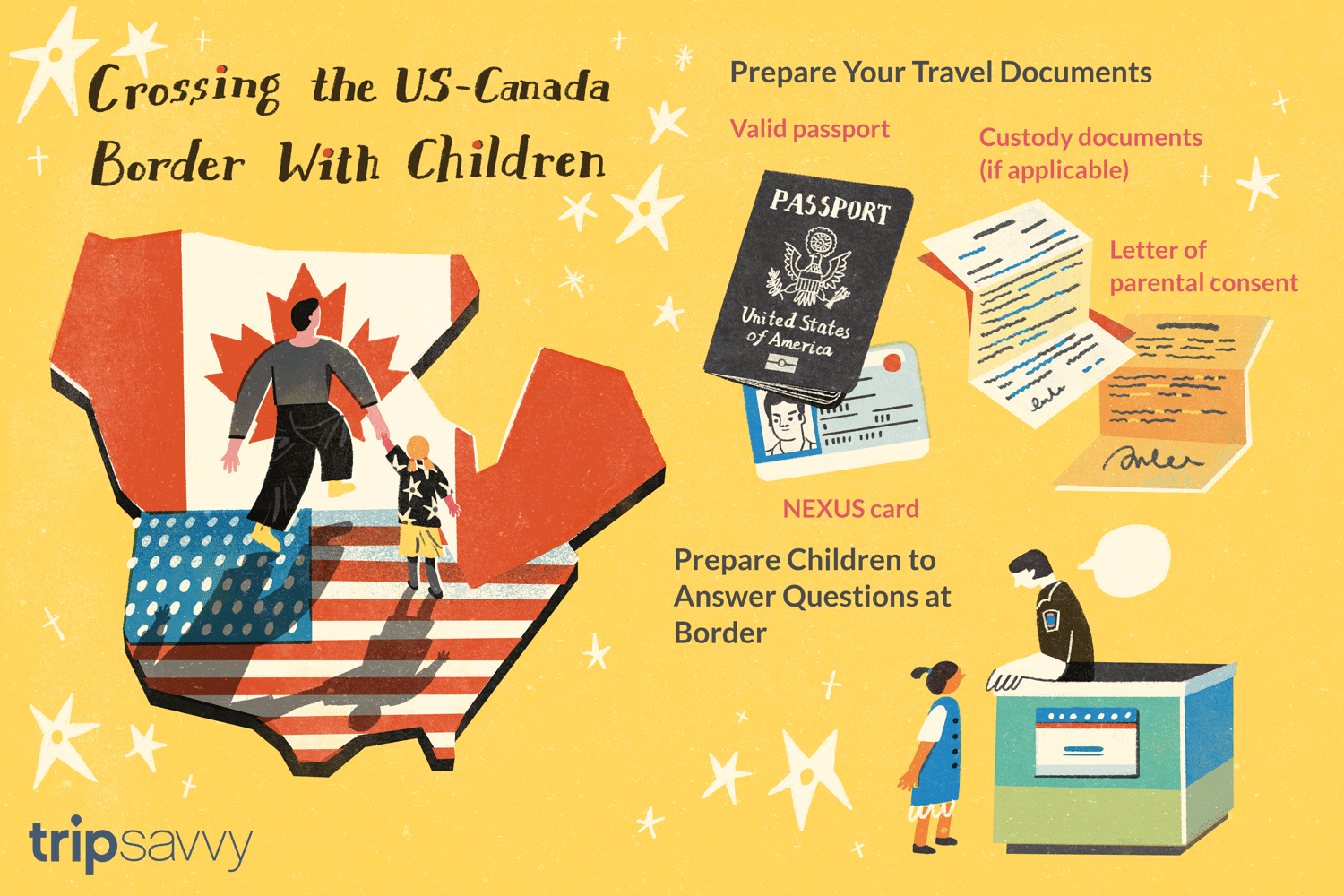 How to Cross the Canadian-U.S. Border With Children