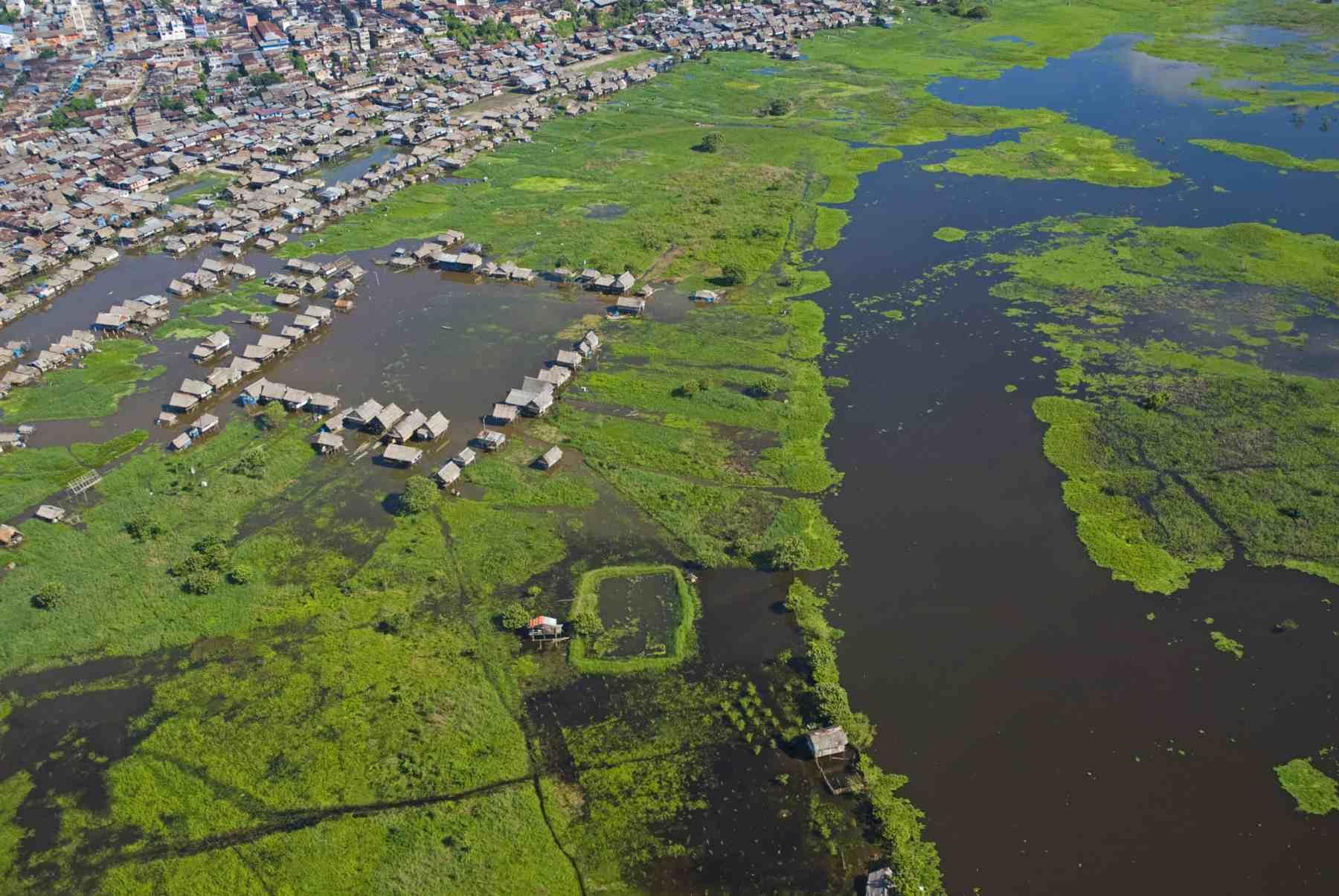 Aerial photo of Iquitos, Peru