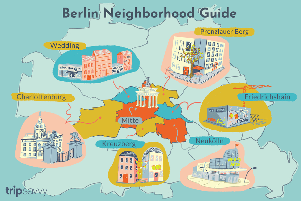 Berlin neighborhood guide illustration