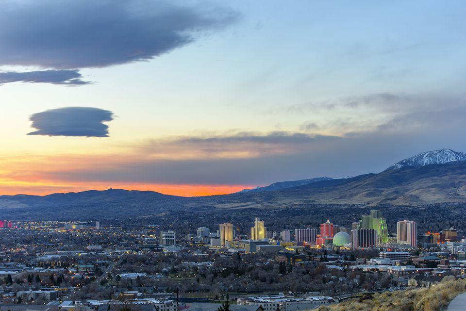 Dawn in Reno, Nevada