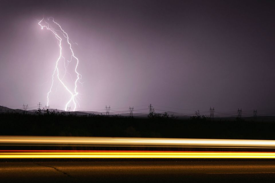 Lightening and thunderstorms are a danger to RVs on the road
