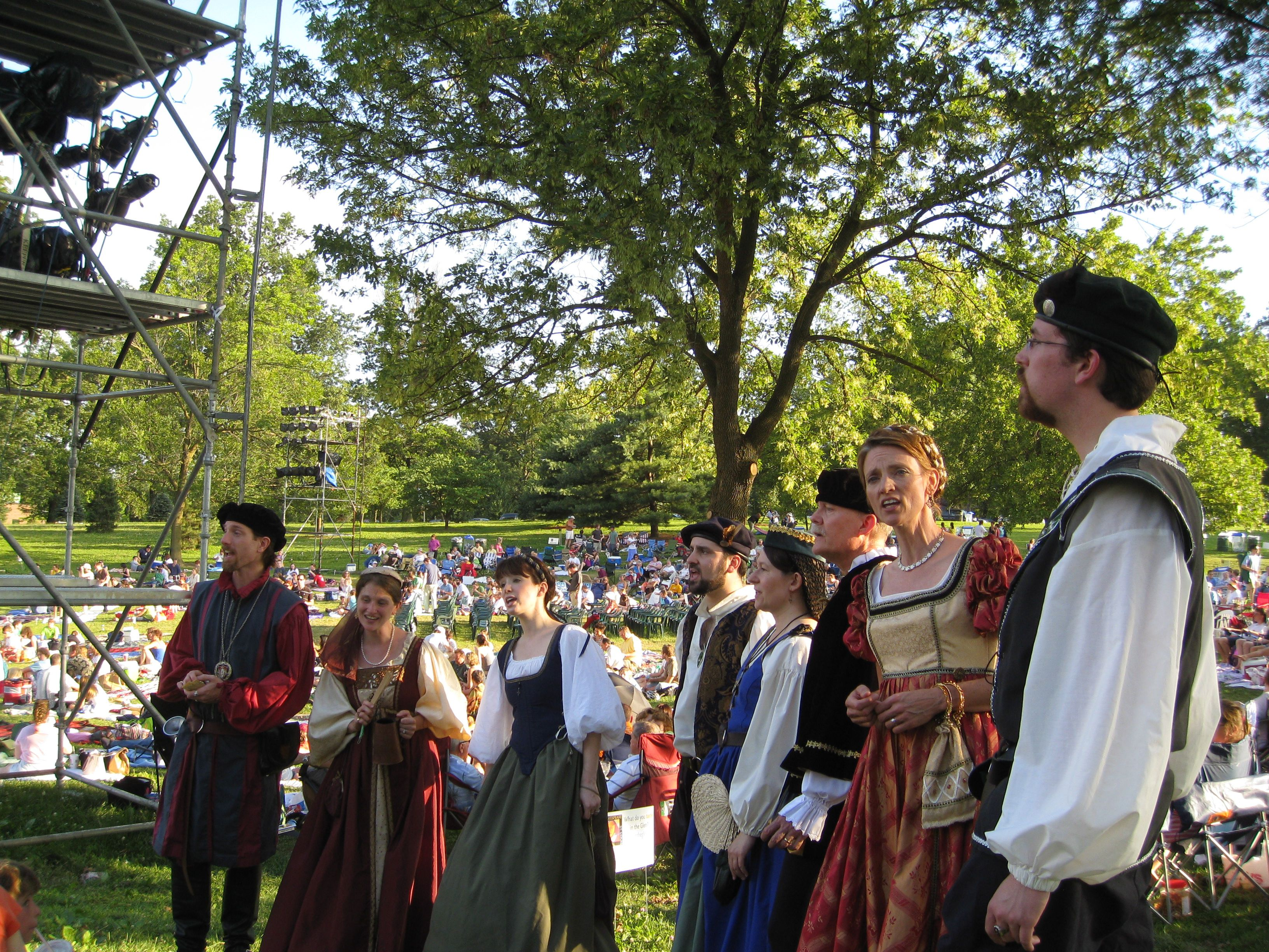 Actors at Shakespeare Festival in Forest Park