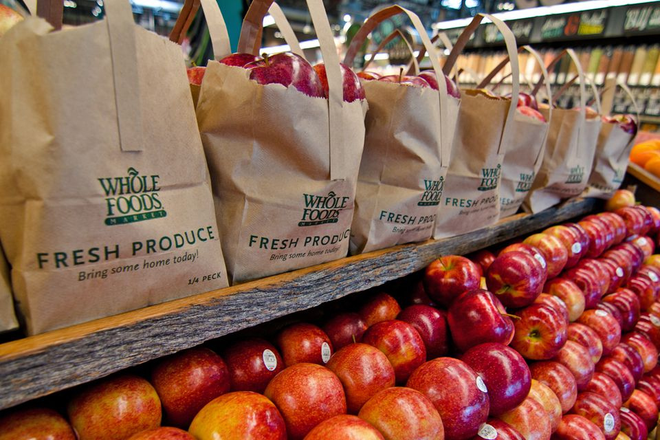 Apples for sale at Whole Foods Market.