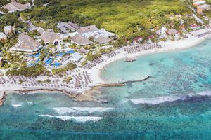 An aerial view of the Riviera Maya