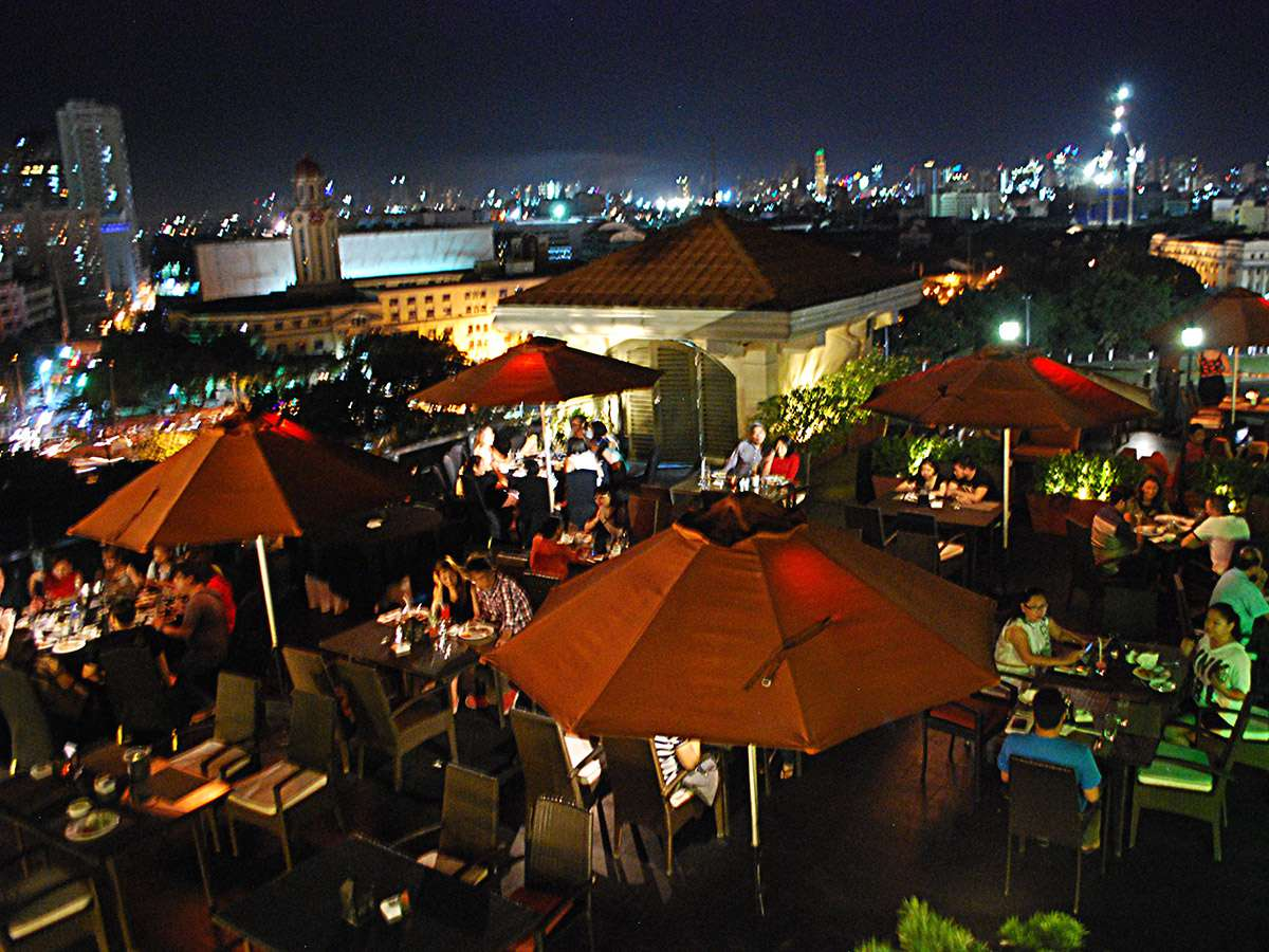 View from the sunset deck, Bayleaf Hotel, Intramuros