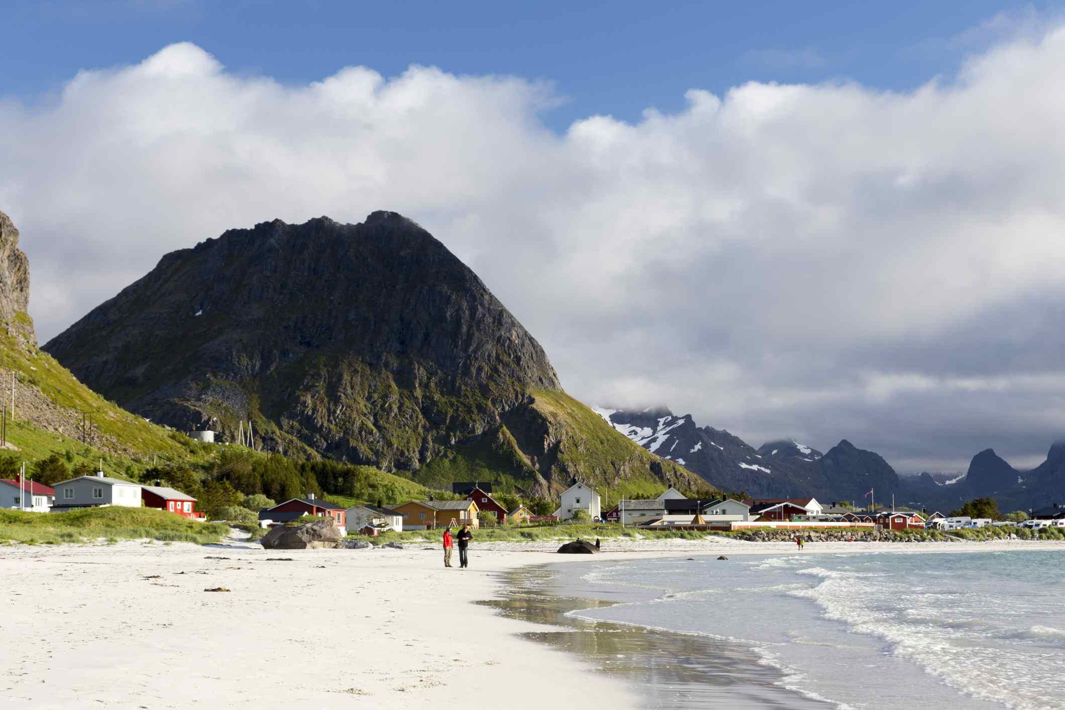 Ramberg Strand, Lofoten, Norwegen