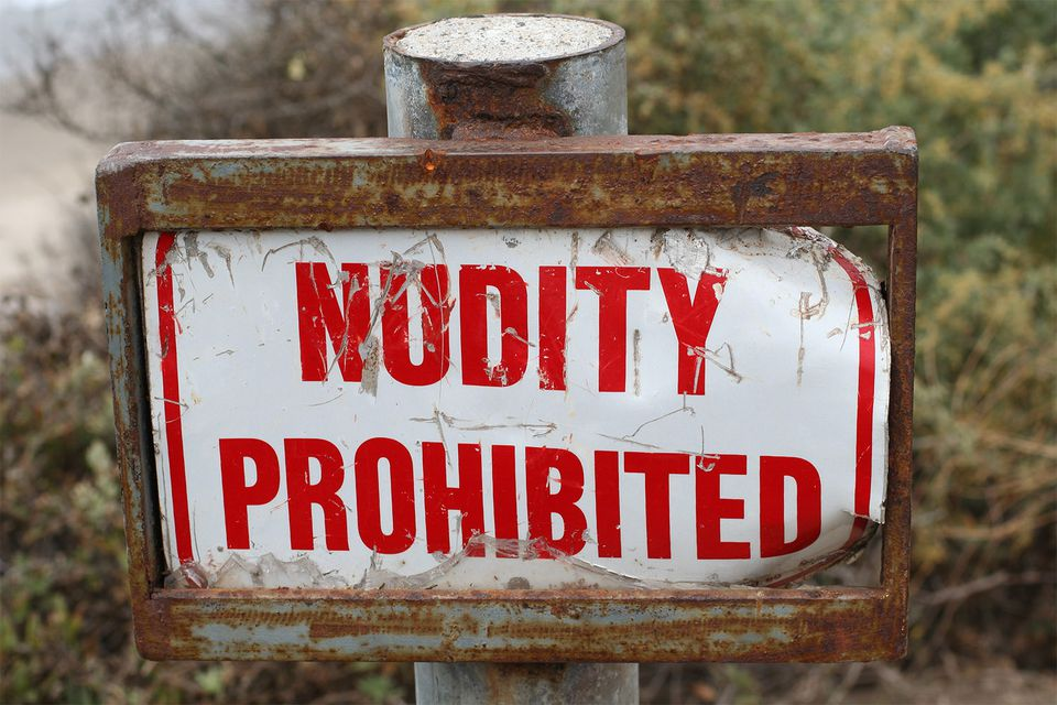 Nudity Prohibited
