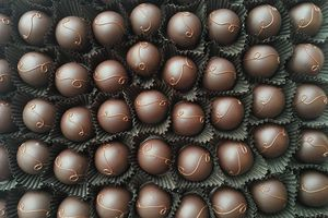 Bunch of truffles from French Broad Chocolates