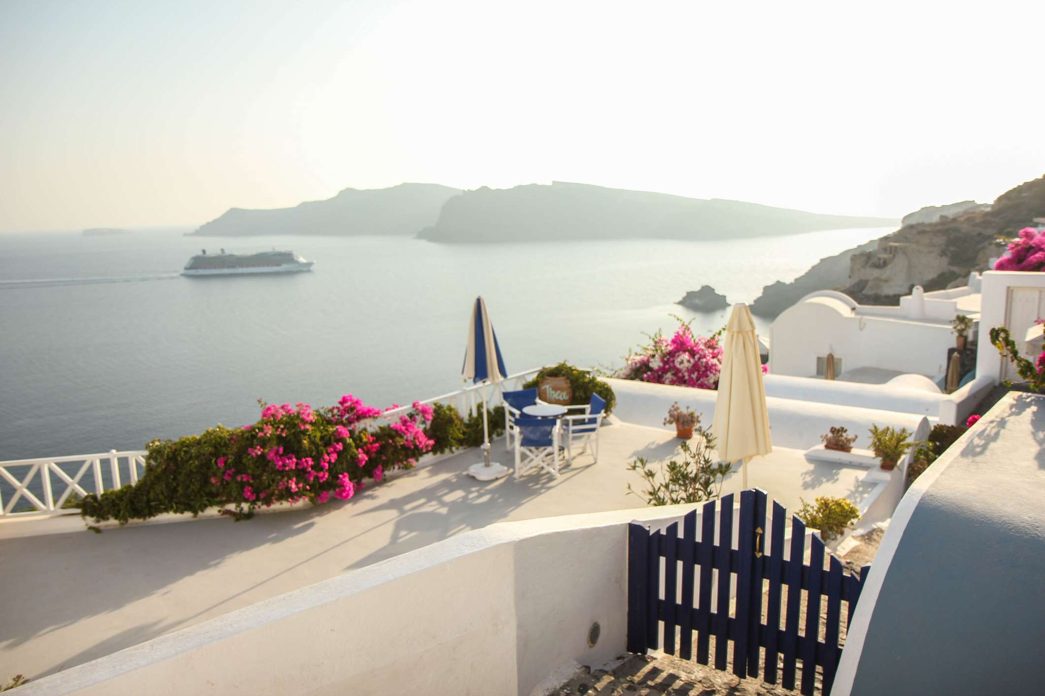 Scenic view from Santorini