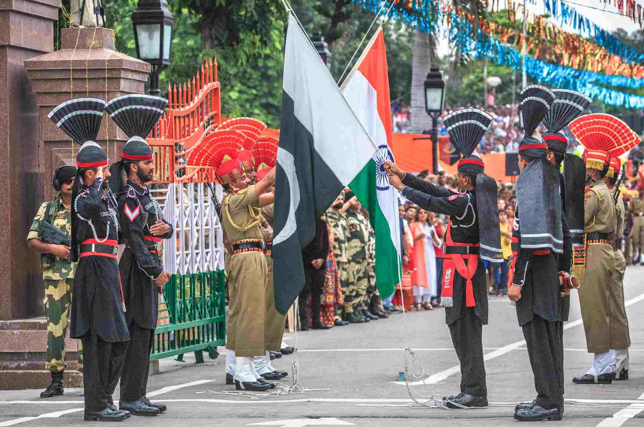 13 Photos of the Dramatic Wagah Border Flag Ceremony