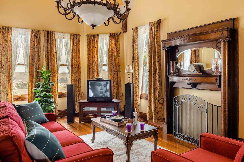 Scream house living room, Tomales, California