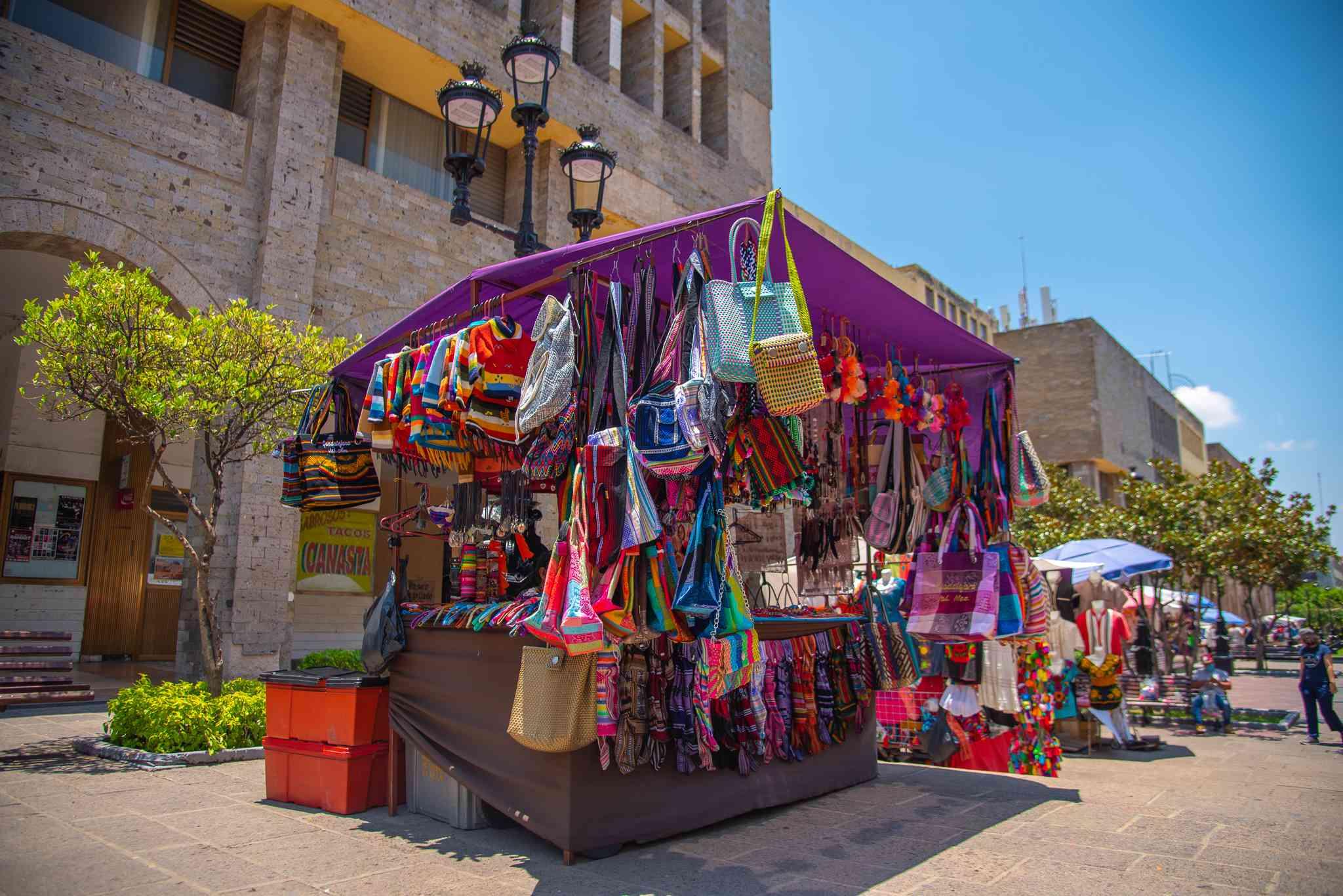 Crafts vendor in Guadalajara