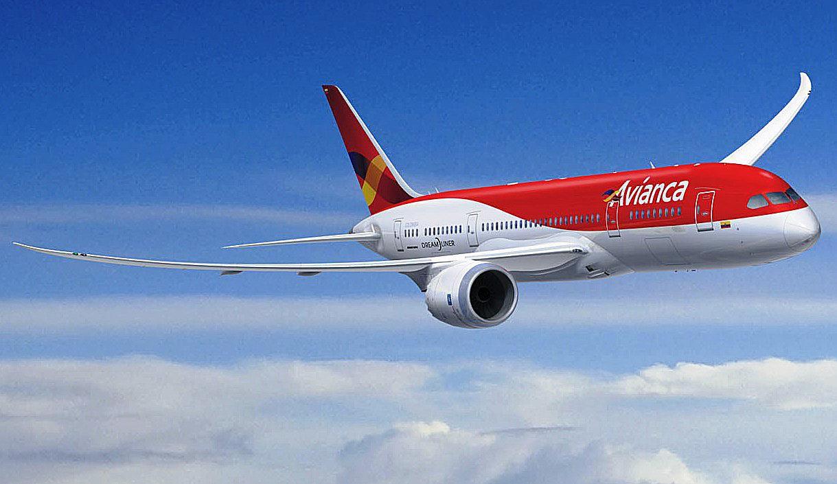 Avianca airplane in flight
