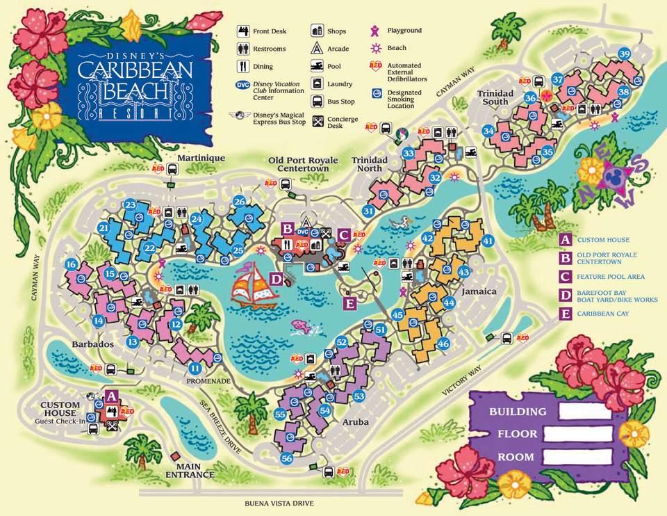 Disney Resort Map Disney World Maps for Each Resort Disney Resort Map