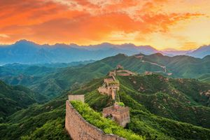 Great Wall Of China at sunset