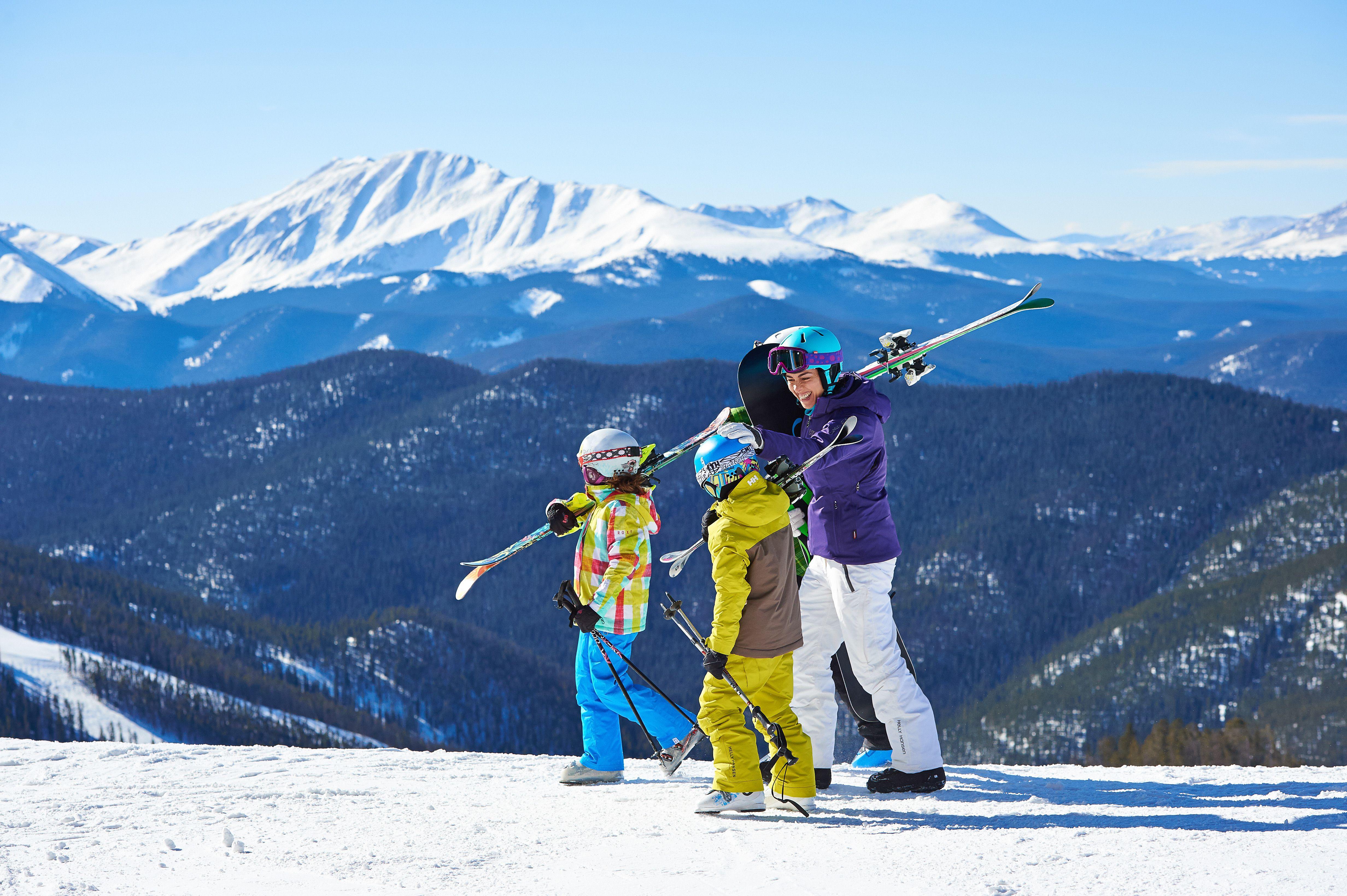 Niños esquiando en Keystone Resort