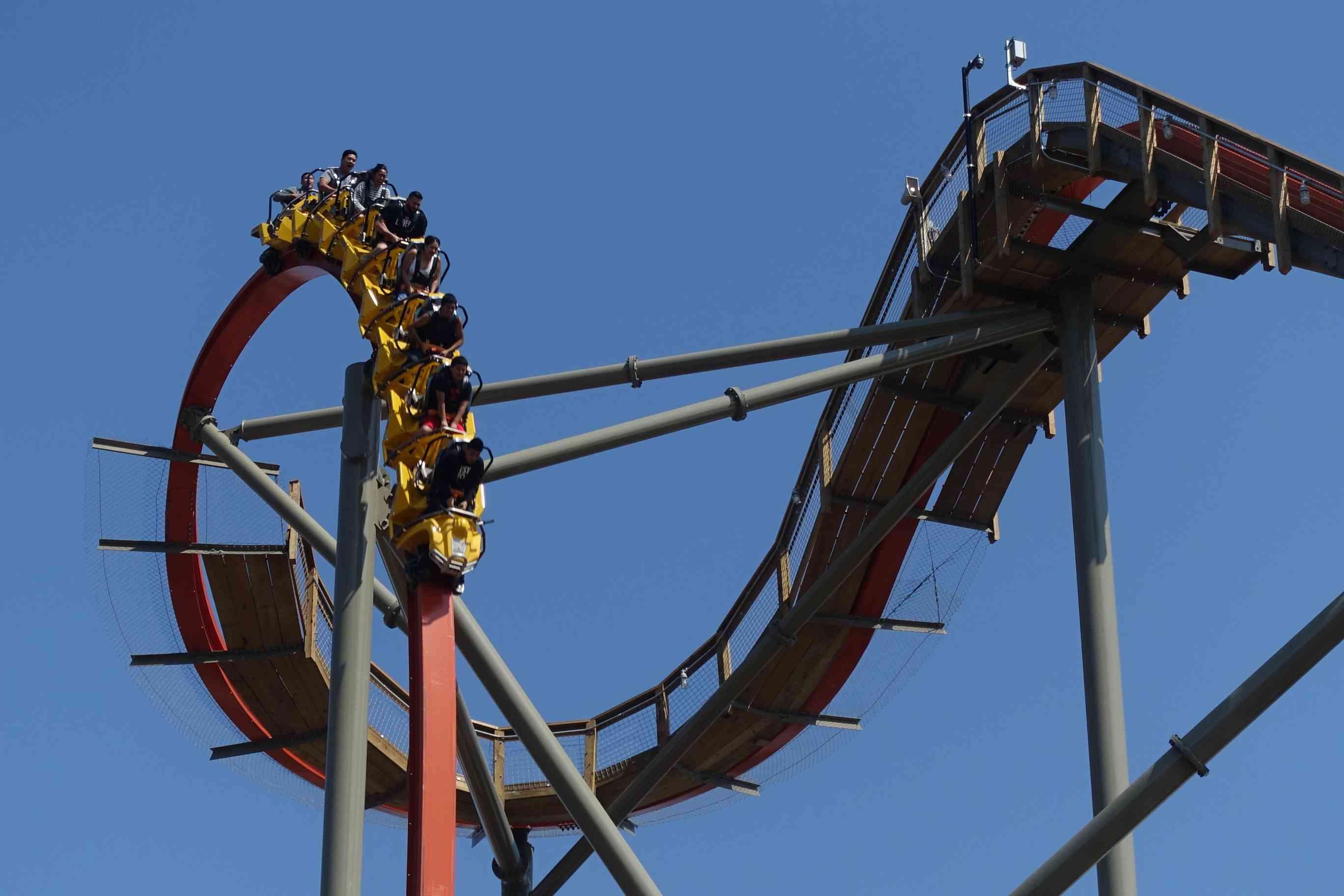 California's Great America RailBlazer roller coaster