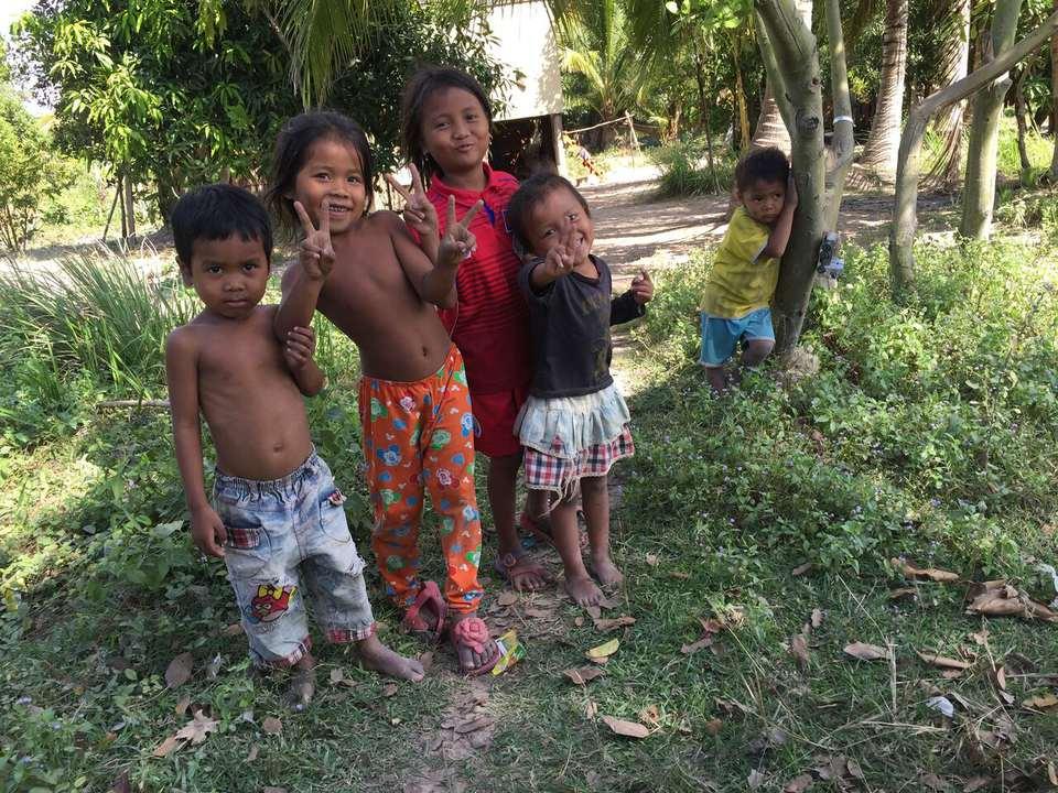 Local children of Cambodia.