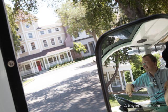 Touring exterior sets on the Warner Bros Studio Tour Hollywood