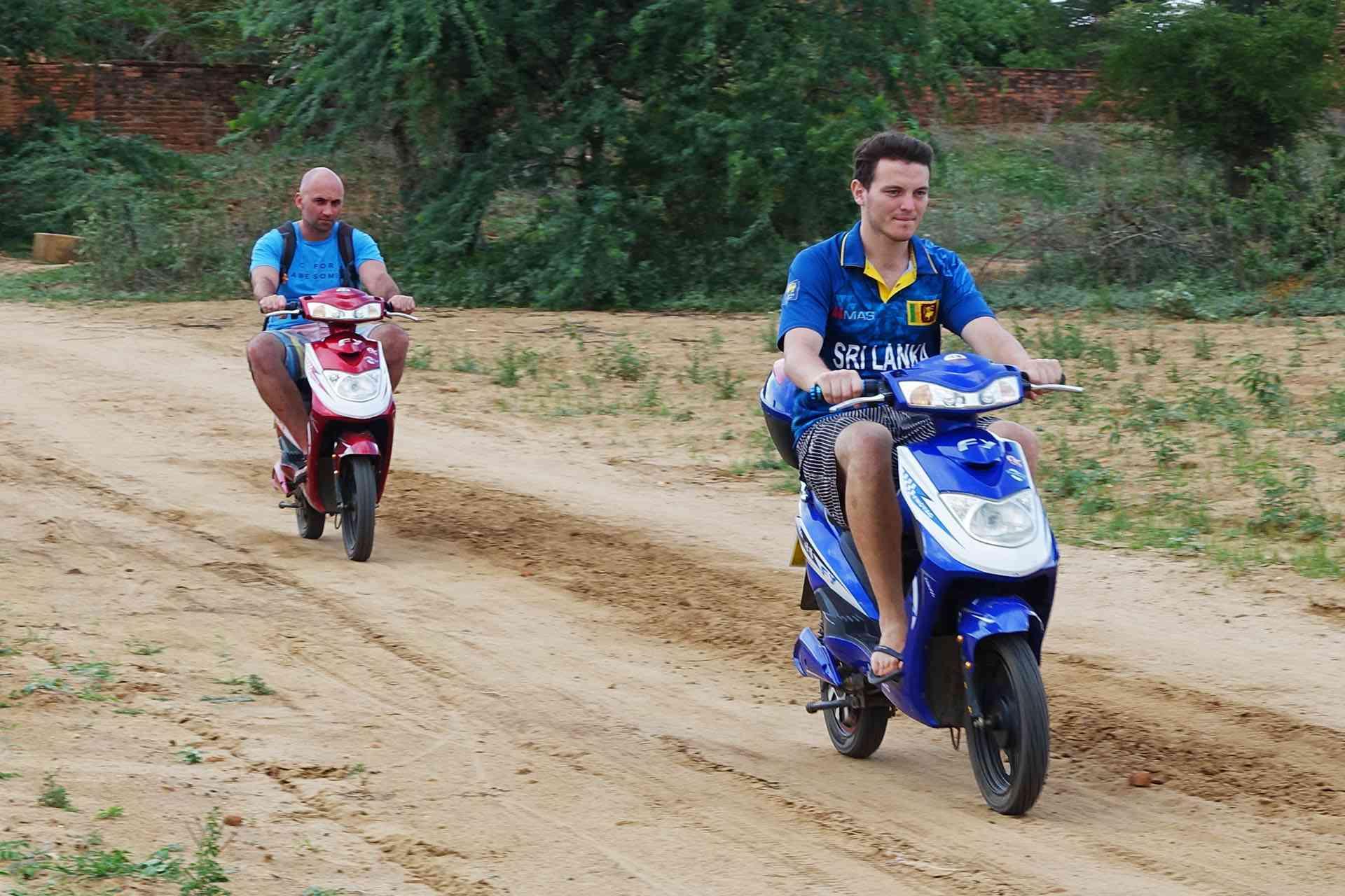 E-bikes in Bagan, Myanmar