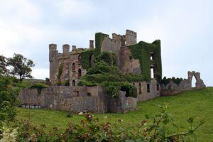 Clifden Castle in Ireland