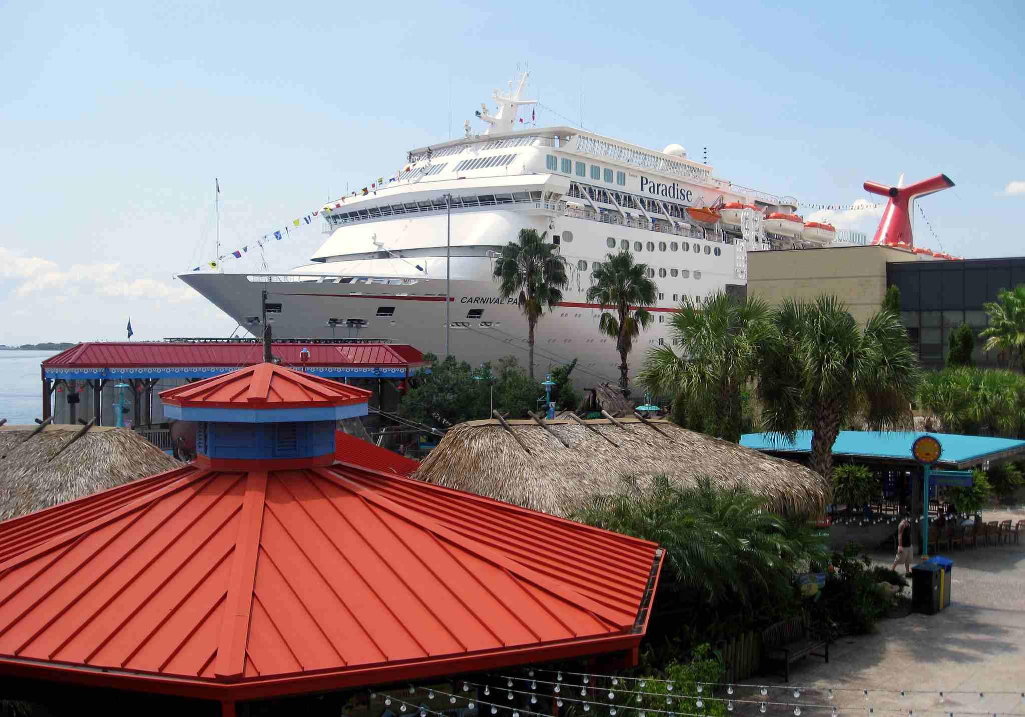 Carnival Paradise Cruise Ship Docked