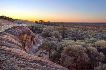 Sunrise at the Top of Wave Rock (Hyden Rock), Hyden, Western Australia