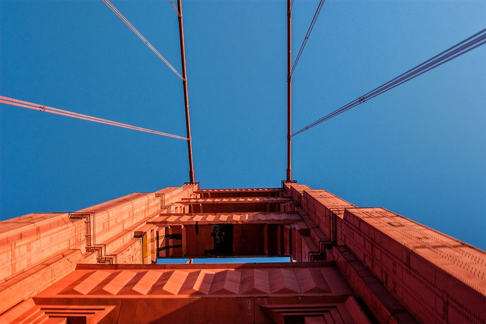 Golden Gate Bridge from a Walker's Point of View