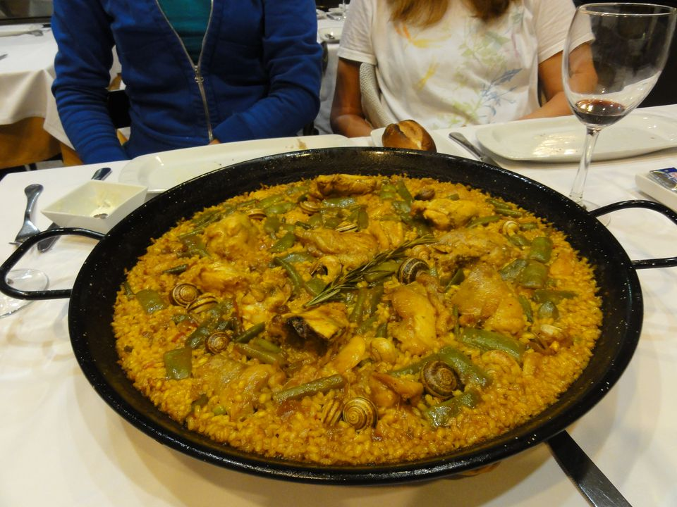 Paella Valenciana. Yes, those are snails.