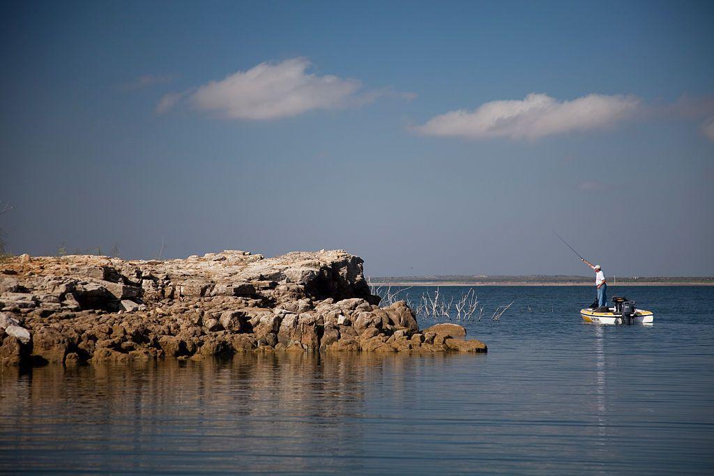 Fisherman on Falcon Lake
