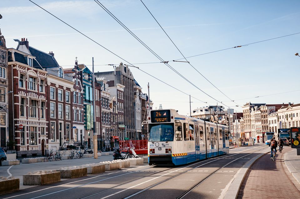 Cityscape of Amsterdam in Netherlands